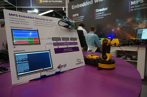 Embedded security arm