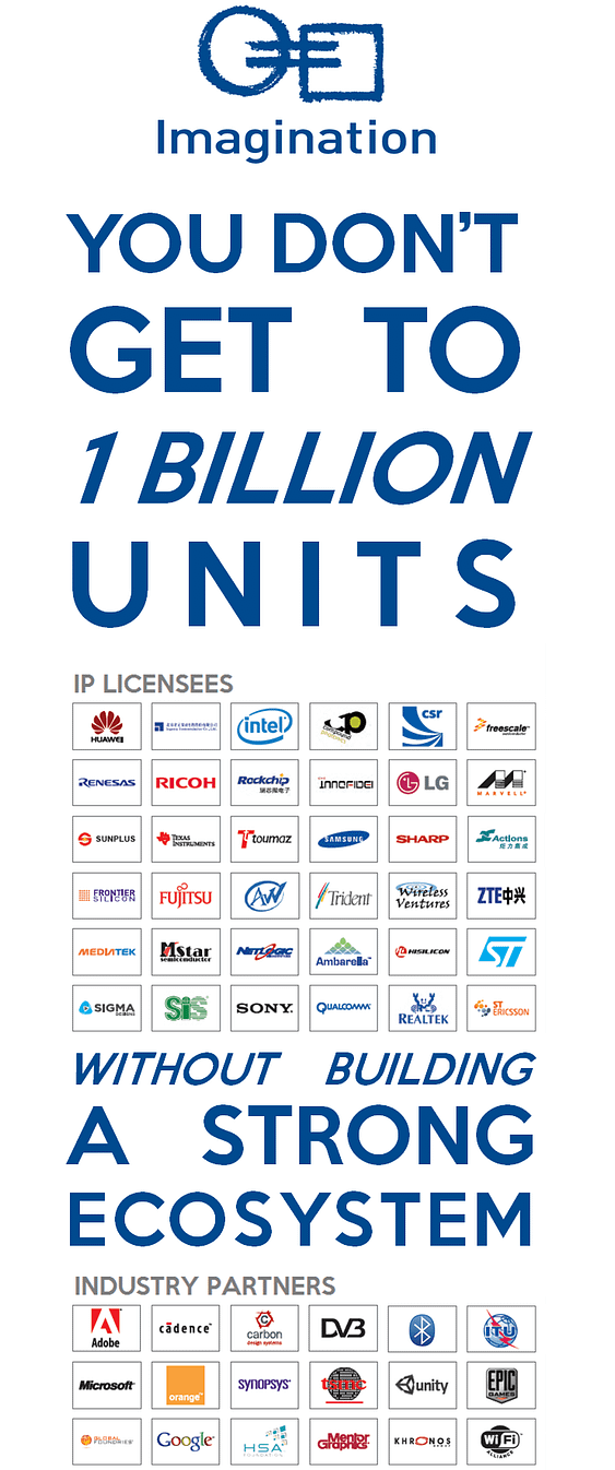 Imagination's customers have shipped over 1 billion SoCs shipped [poster]