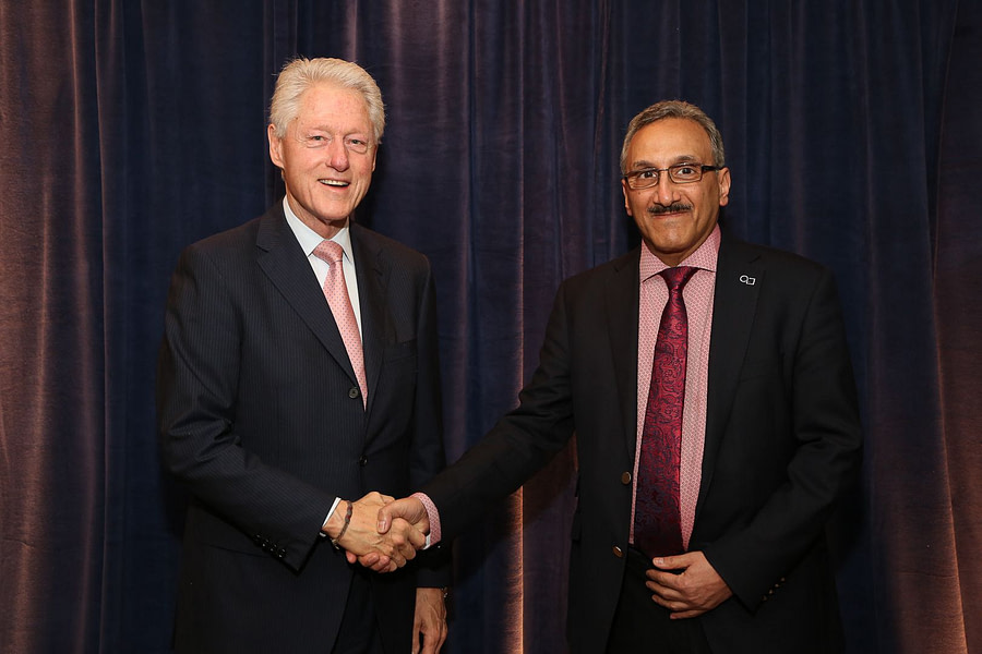 Bill Clinton Hossein Yassaie Jeffries TMT 2014 1