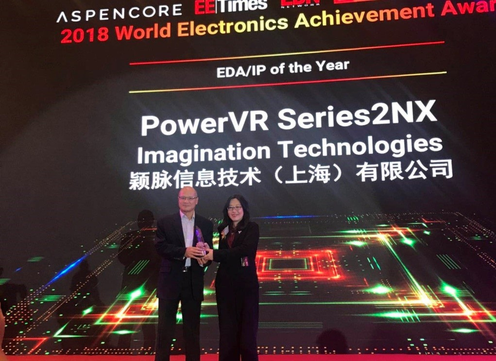 PowerVR Series2NX ASPENCORE Award for EDA/IP of the year