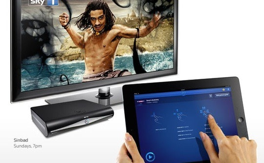 Tablet remote control for television
