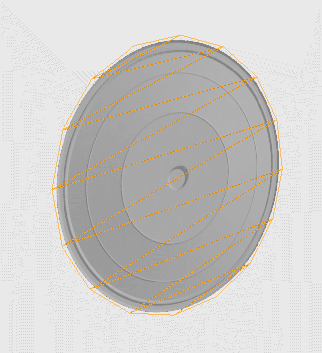 transparent disc