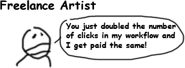 freelance artist cartoon