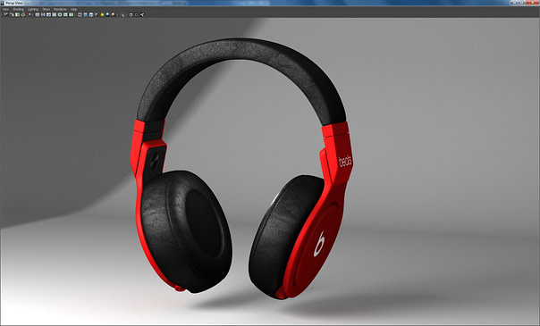 Headphones rendered with Caustic's Vizualizer Maya plugin