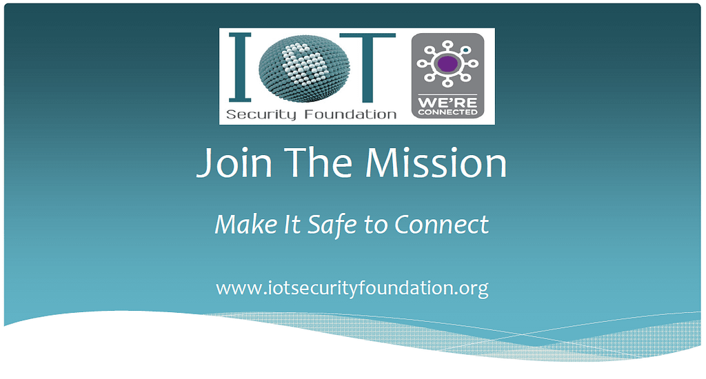 IoT Security Foundation mission 1