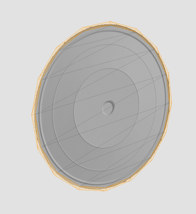 Opaque disc with a transparent ring