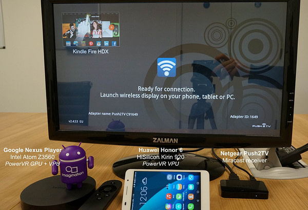 Miracast running on PowerVR video processors