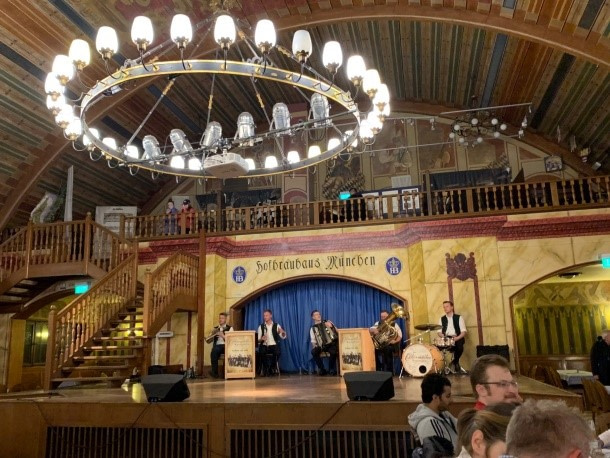 Hofbrauhaus, with its resident Um-pah band