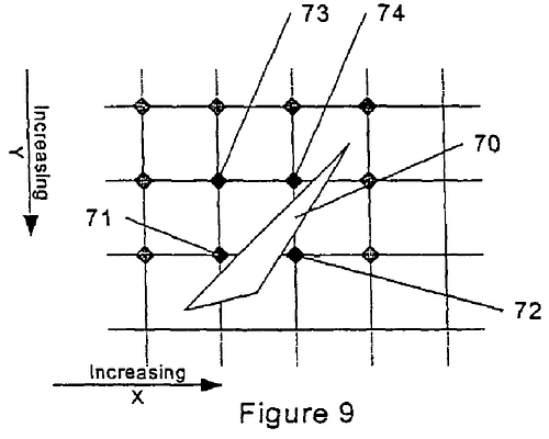 One of the diagrams used to describe the invention in the patent, 'Tiling system for 3D rendered graphics'