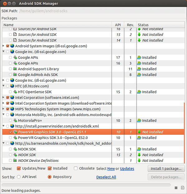 Android SDK Manager _010