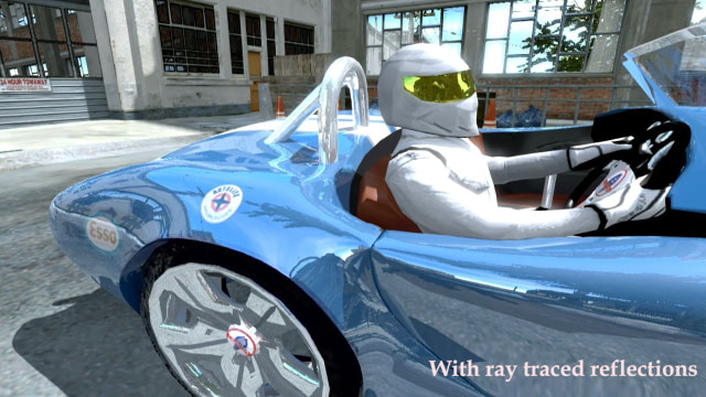 Car (ray traced reflections) - PowerVR Ray Tracing in Unity 5