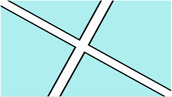 Figure 3: Anti-aliased road outlines